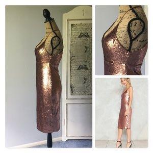 Nasty Gal Dresses - Nasty Gal Sequin Good Times Only Midi Dress Sz 2